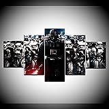 Yxsnow 5 Dipinti su Tela Telaio Murale Guerriero di GuerreStellariDarth Vader Quadro su Tela Poster, Foto e Stampe artistiche
