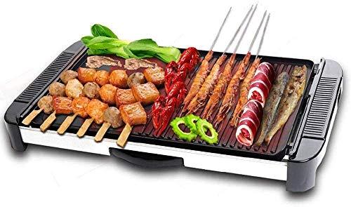 Barbecue coréen en Acier Inoxydable Plateau de Barbecue électrique sans fumée Domestique Barbecue électronique Multifonctionnel Facile à Nettoyer et Durable