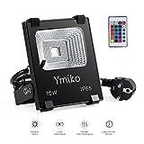 Ymiko 10W RGB LED Fluter Floodlight Strahler, Led...