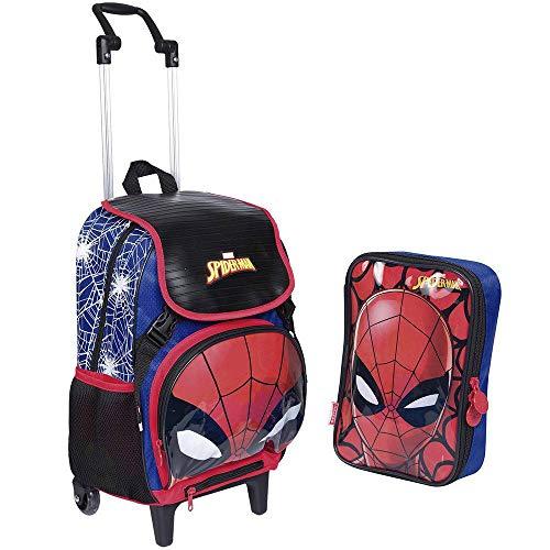 Kit Mochilete Spider-man Homem Aranha 19z + Estojo Especial