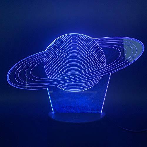3D LED Tischlampe Kinder Geschenk Sonnensystem Saturn Lichteffekt Fantastisches Geschenk Kinder Nachtlicht Hologramm