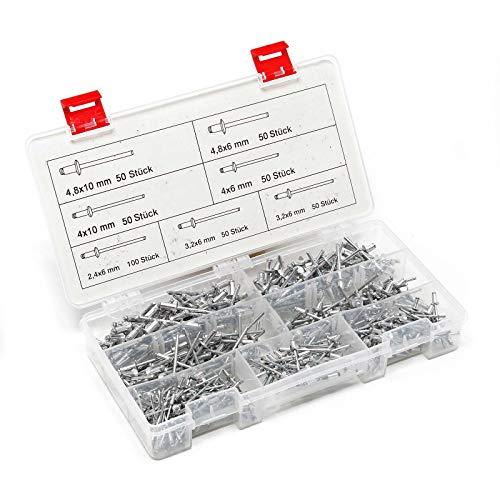 Novus Aluminium-Blindnieten 8 mm /Ø 3 mm 4.0-5.5 mm Klemml/änge Kunststoff und Leder 70 Nieten f/ür Nichteisen Metall