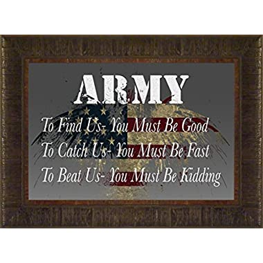 Army- You Must Be Kidding By Todd Thunstedt 17.5x23.5 Patriotic Soldier Military War Constitution Department of Washington Lincoln Reagan VFW Legion Bald Eagle Helicopter General West Point Sailor Airman Corps Fleet Submarine Parachute Police Policeman Humvee Armored Seal Ranger Battleship Destroyer Pentagon National Guard Special Op Academy Top Gun Base Fort Hood Bragg Campbell Benning Camp Pendleton Eglin AFB Naval Annapolis Warfare F22 Raptor Pilot Framed Art Print Wall Décor Picture