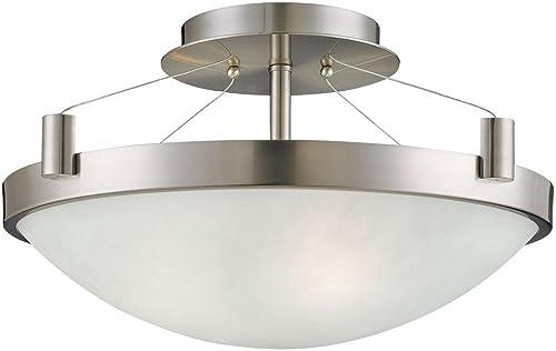 2021 George Kovacs P591-084, Suspended, outlet sale 3 Light Semi Flush Mount, Brushed 2021 Nickel outlet sale