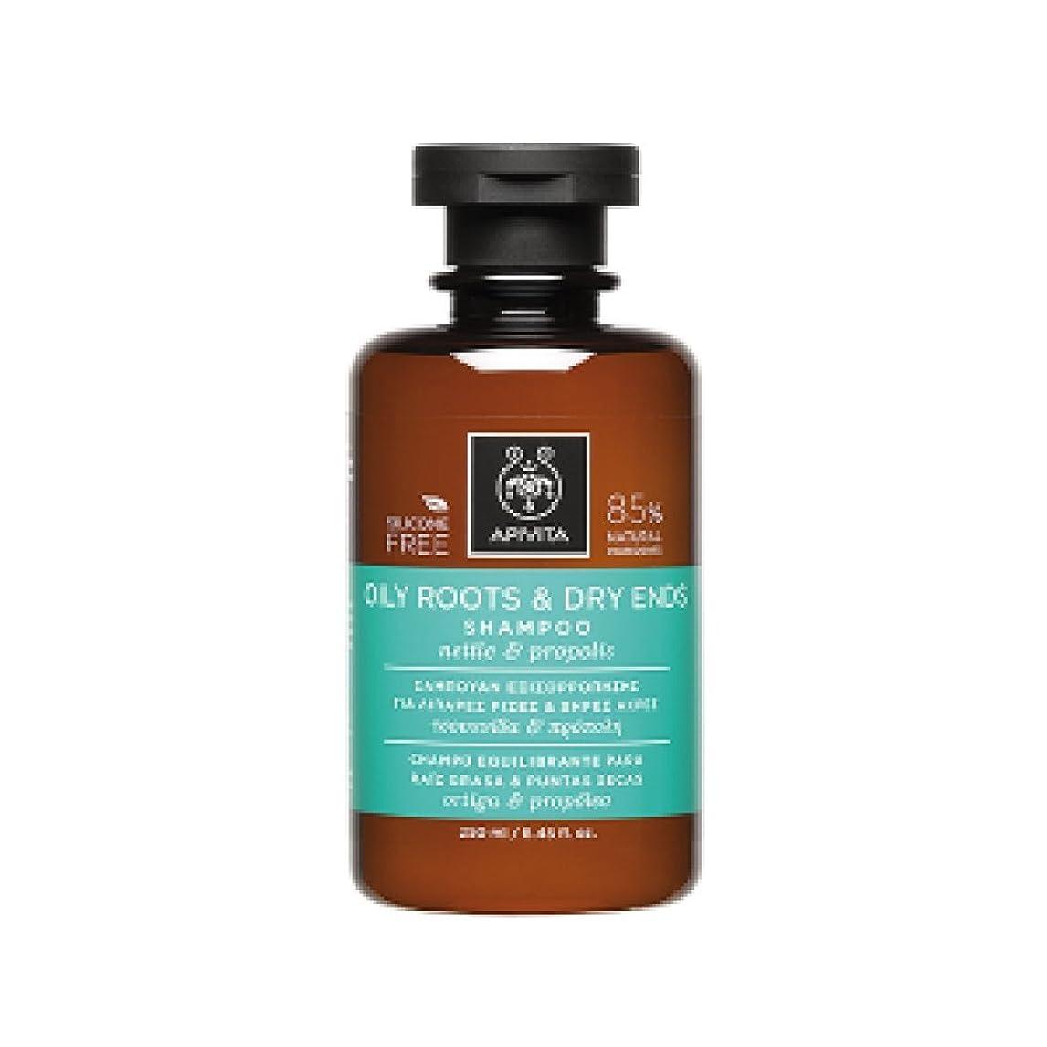 苦痛ダイヤルためらうアピヴィータ Oily Roots & Dry Ends Shampoo with Nettle & Propolis (For Hair with Oily Roots and Dry Ends) 250ml [並行輸入品]