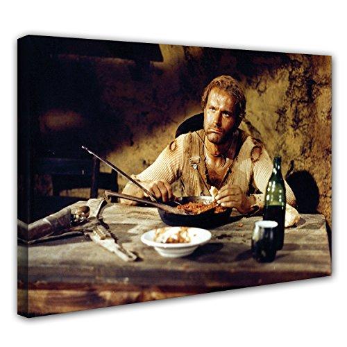 Terence Hill Leinwand - Der müde Joe - Bohnen - Die rechte und die Linke Hand des Teufels - Pfanne (60 x 40 cm)