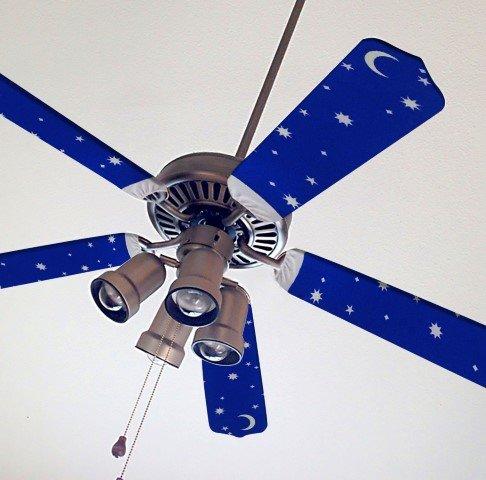 Fancy Fabric Ceiling Fan Blade Starry Night
