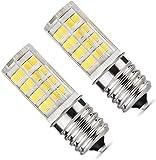 E17 LED Bulb, Microwave Oven Light 5 Watt Daylight White 6000K dimmable 52x2835SMD AC110-130V (Pack of 2)