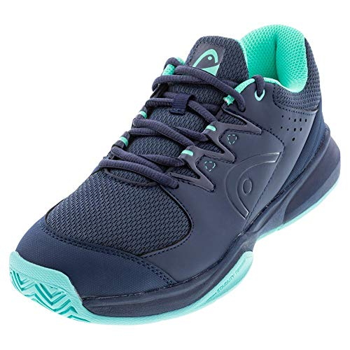 HEAD Women's Brazer 2.0 Tennis Shoes, Blue Dark Blue Teal Dbtq, 8.5