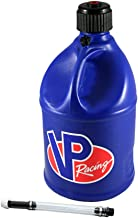 VP 5 Gallon Round Blue Racing Utility Jug with Deluxe Filler Hose