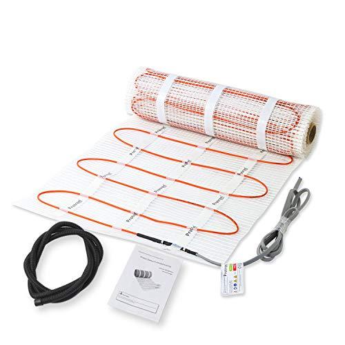 Protron® Elektrische Fußbodenheizung Twin Technologie Bodenheizung Elektro Heizmatte 160 W qm 200 Watt/m² Auswahl 1-15 m² Fliesen, Thermostat optional erhältlich (160 Watt/m², 1 m² - 160w)