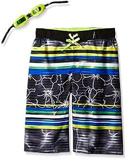 ZeroXposur Little Boys Luau Swim Trunk Black Large-7 [並行輸入品]