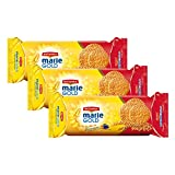BRITANNIA Marie Gold Cookies 5.3oz (150g) - Biscuits Pour l'heure du thé - Original Flavour Crispy Snack Tea Time Biscuits Crisp and Light Full of Minerals and Vitamins - Suitable for Vegetarian (Pack of 3)