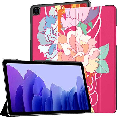 Funda para Tableta Samsung A7 Phoenix Fire Bird Peony Flower Rose Funda para Samsung Galaxy Tab A7 10,4 Pulgadas Funda Protectora de liberación 2020 Funda Samsung Galaxy A7 Funda para Tableta Funda