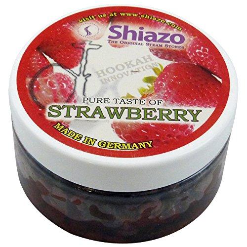 Strawberry Shiazo Shisha Steam Stones Shisha Hookah Sheesha Huka Flavours NON TOBACCO 100g by Shiazo
