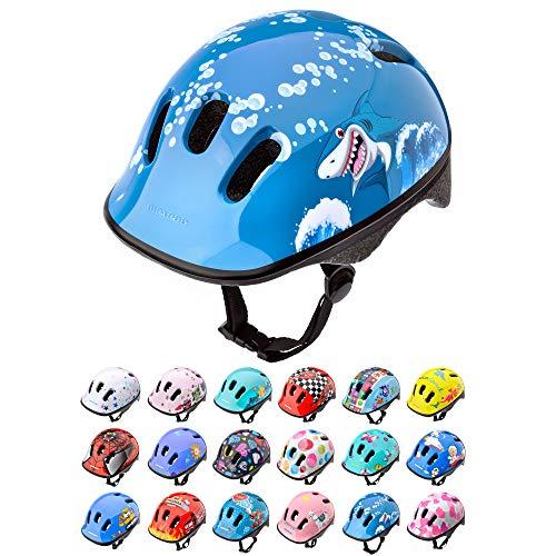 Casco Bicicleta Bebe Helmet Bici Ciclismo para Niño - Cascos para Infantil Bici Helmet para Patinete Ciclismo Montaña BMX Carretera Skate Patines monopatines (XS 44-48 cm, Baby Shark)