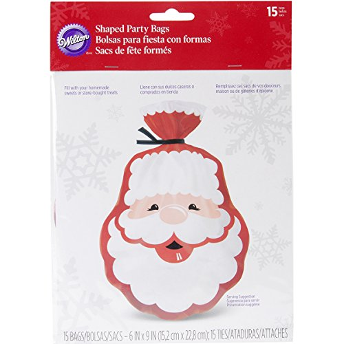Wilton Shaped Bags, 6 by 9-Inch, Santa, 15-Pack
