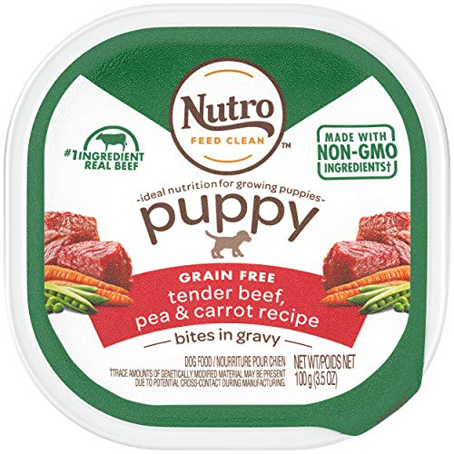NUTRO PUPPY High Protein Grain Free Natural Wet Dog Food Bites for Pug Puppies