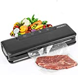 Vacuum Sealer Machine, ASSENIO Automatic Vacuum Sealing System For Food Preservation, Dry & Moist Sealing Modes with 15 Bags