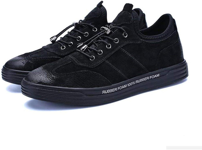 DSX Herren Winter Koreanische Version des Trends Sport Schuhe Jugend Teller Schuhe Schwarz Khaki, schwarz, EU43   UK9   CN44