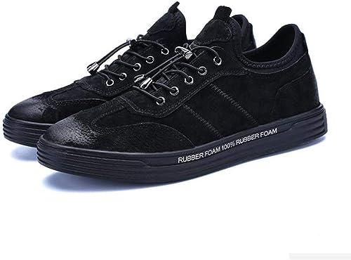 DSX Version Coréenne Hiver pour Hommes de la Tendance, Tendance, Chaussures de Sport pour Adolescents, Assiettes, Noir Kaki, Noir, EU43   UK9   CN44  liquidation de la boutique