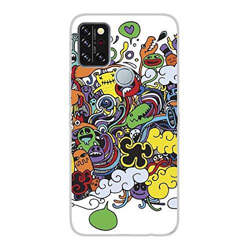 Todo Phone Store Funda Carcasa Personalizada Diseño Impresion UV LED Silicona Dibujo TPU Gel [Comics 011] para UMIDIGI A9 Pro
