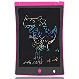KURATU Girl Toys for 3-12 Year Old Girls Gifts,Colorful Screen LCD Writing Tablet 8.5 Inch Doodle Board, Electronic Drawing Tablet, Educational Birthday Gift for 3 4 5 6 7 8 9 Years Old Girls(Pink)