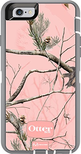 OtterBox iPhone 6 ONLY Case - Defender Series Retail Packaging - Ap Pink (White/Gunmetal Grey Ap Pink) (4.7 inch)