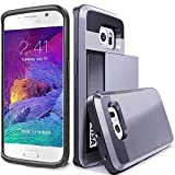 S7 Edge Case, TekSonic Samsung Galaxy S7 Edge Case (Silver) Armor Series [Card Slide Slot][Drop Protection][Heavy Duty][Wallet] Full Cover Protection Tough Case for Samsung Galaxy S7 Edge (Silver)