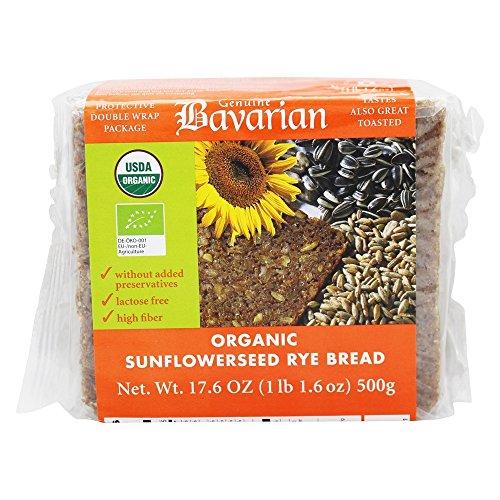 Genuine Bavarian Organic Sunflower Seed Rye Bread, 17.6 Ounce - 6 per case.