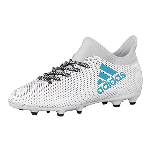 adidas Unisex-Kinder X 17.3 Fg J Fußballschuhe, Weiß (Ftwbla/Azuene/Gritra), 28 EU