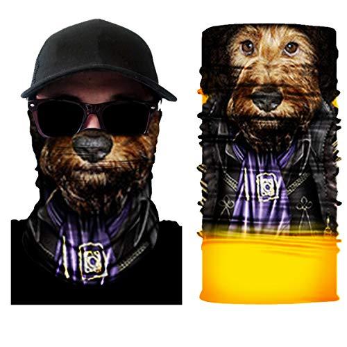 10 Stück Atemschutz Mundschutz, Unisex Damen Männer Lustig 3D Druck Motorrad Face Shield Sturmhaube, für Motorrad Fahrrad Ski Paintball Gamer Karneval Kostüm 3D,12