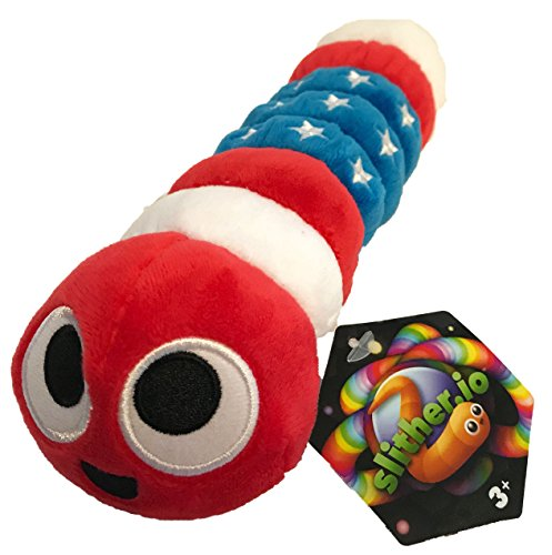 Slither.io 8 Bendable Plush Toy with tag - Patriot American Flag color …