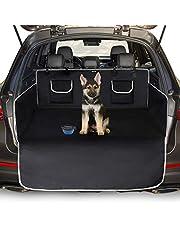 Toozey Auto Boot Protector voor hond universele antislip auto boot hond deken met zijbescherming en bumperbescherming, waterdicht/antitifouling, robuuste beschermende mat voor honden, gemakkelijk te reinigen, zwart/grijs