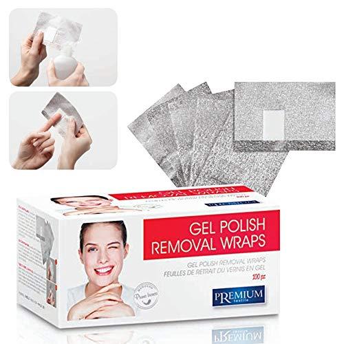 Xanitalia Lot de 100 feuilles de gel Polish Removal Wraps Premium