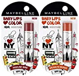 Maybelline Baby Lips Alia Loves New York, Highline Wine, 4g And Maybelline Ba
