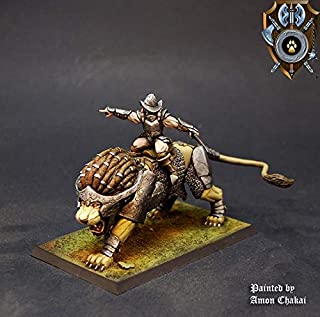 Shieldwolf Miniatures: Siberias Lion Rider_B (1x Multi-Part Resin 28mm Scale Figure) Warhammer 40k, Age of Sigmar, The 9th Age, Kings of War