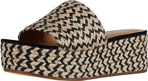 Lucky Brand Women's BEFANNI Espadrille Wedge Sandal, Black/Natura, 8.5 M US