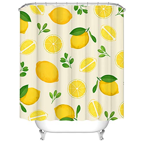 Lemon Shower Curtains Fresh
