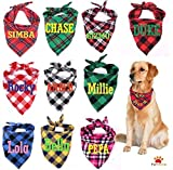 Dog FurStorm Custom Embroidered Tartan Bandana Over Collar Easy Fit UK Home Made