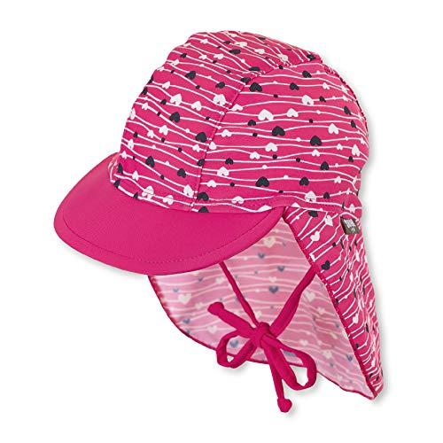 Sterntaler Mädchen Schirmmütze mit Nackenschutz, UV-Schutz 50+, Alter: 2 - 4 Jahre, Größe: 53, Farbe: Magenta