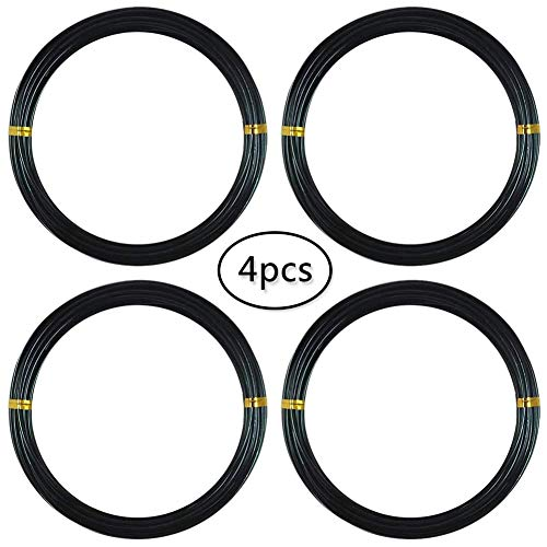 BESLIME Bonsai de Aluminio anodizado,Alambre de Bonsai Negro Cable Negro de Bonsai, Cable Artesanal, Cable de Aluminio, Cable de jardín, 1.0 mm / 1.5 mm / 2.0 mm / 2.5 mm