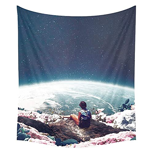 Tapestry, My World Blossomed When I Loved You Home Decor - Tela decorativa para colgar en la pared, para sala de estar, dormitorio (colorido 60 x 51 pulgadas)