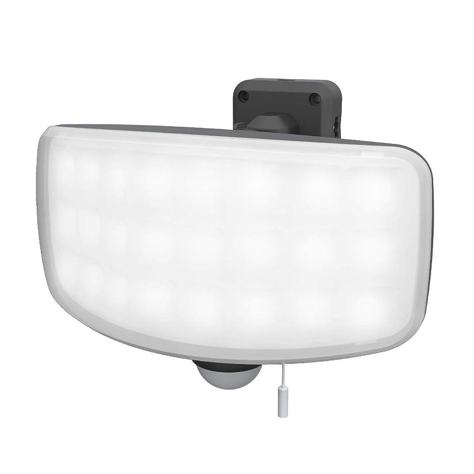 サッカー二度誘導ムサシ(MUSASHI) センサーライト グレー 本体サイズ:幅20.4×奥行15.1×高さ14.5cm 27Wワイドフリーアーム式LEDセンサーライト LED-AC1027