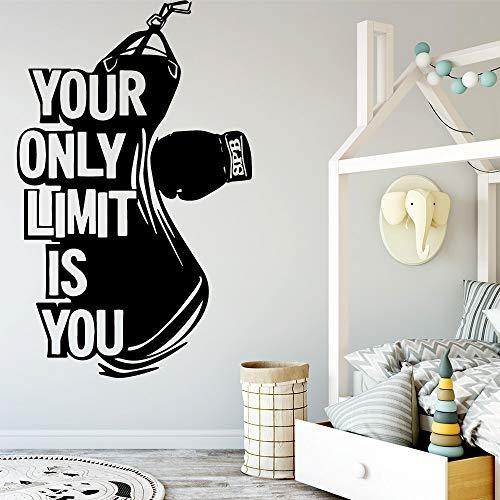 SLQUIET DIY Modernes Boxen Ihre einzige Grenze ist Sie Wohnkultur Moderne Acryldekoration Für Kinderzimmer Wohnzimmer Wohnkultur Dekoration Wandbilder Silber L 43 cm X 67 cm