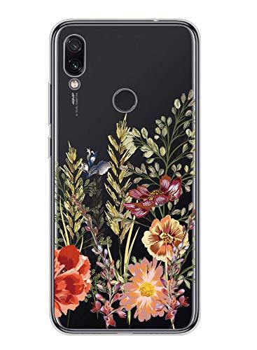OnePlus 3/3t Case Transparent,Oihxse Kompatibel mit OnePlus 3/3t Silikon Hülle mit Blume Motiv Ultra Dünn Durchsichtige Case 360 Grad Schützen,Schutzhülle Slim Stoßfest TPU Bumper (A5)