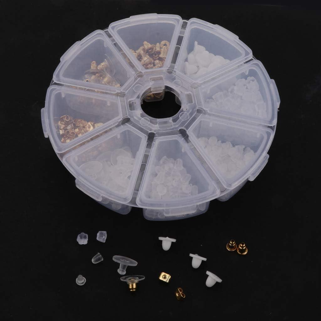 Gold 400pcs 8 Arten chiwanji Ohrringe Basteln Zubeh/ör Schmuckherstellung Set Schmuck Reparatur Kit Ohrh/änger Ohrstopper Verschluss f/ür DIY Anf/änger