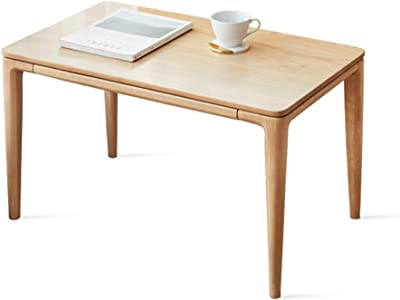 Solid Wood High and Low Coffee Table Sofa Side Table with Wood Grain Surface Modern Minimalist Tea Table (Color : 43cm)