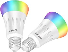 ELEAD LED Light Bulb Smart WiFi 7W 60W Equivalent Compatible with Alexa and Google Home 16 Million Colors Color Changing D...