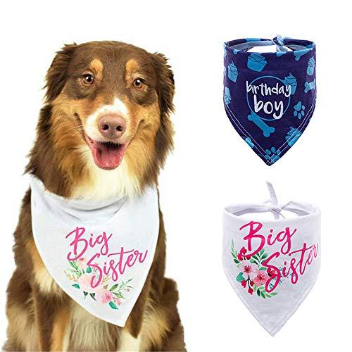 CHUKCHI Hond Bandana -2 PCS Grote Zuster Hond Bandana Driehoek Bibs Sjaal Accessoires voor Honden Huisdieren Kat, A+C
